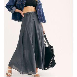 NWT CP Shades Cotton Silk Maxi Skirt XS